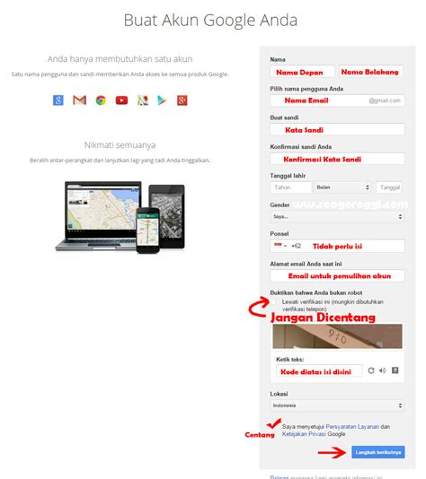 cara membuat website gratis melalui hp membuat email google melalui hp cara mudah membuat akun