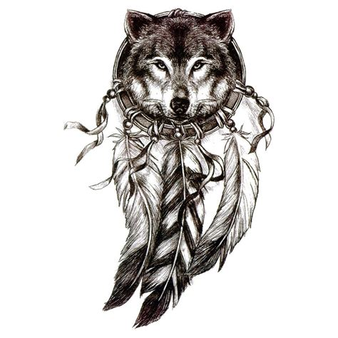 wolf dreamcatcher tattoo temporary dreamcatcher wolf dreamcatcher 2