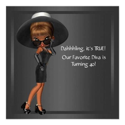 themes of black woman diva womans african american 40th birthday party custom