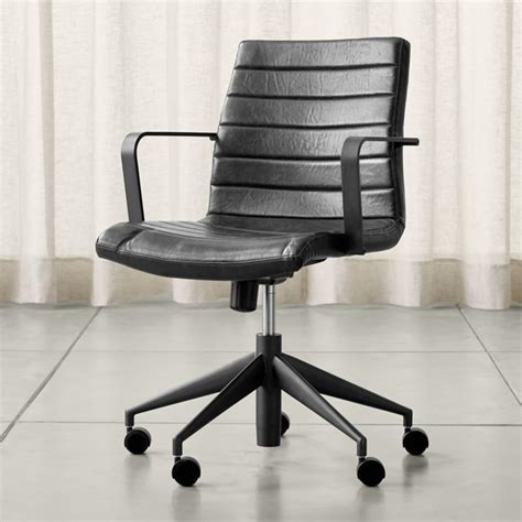 Graham Black Office Chair   Reviews   Crate and Barrel