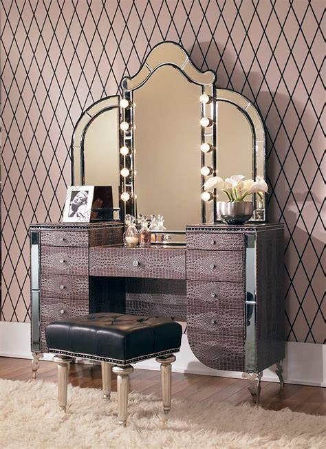 hollywood swank bedroom furniture hollywood swank vanity by aico aico bedroom furniture