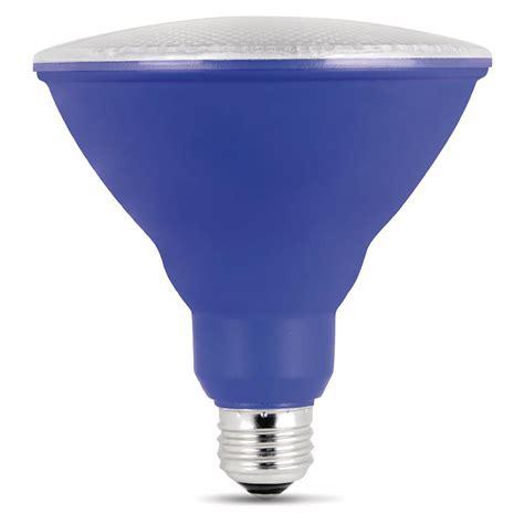 blue light bulbs home depot feit electric 90w equivalent blue par38 spot led light