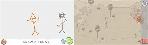 doodle stickman draw a stickman adventure rpg and puzzle in one