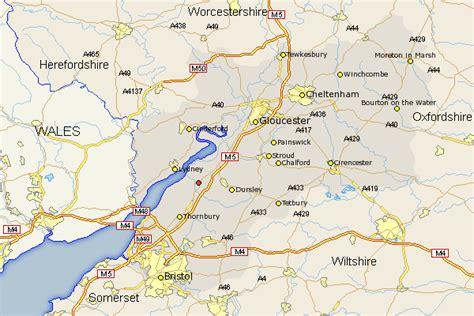 map berkeley berkeley map and road maps of gloucestershire uk