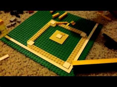 how to build a baseball field in your backyard how to make a lego baseball field youtube