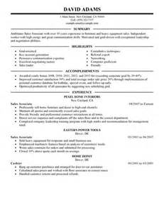 Sle Resume Summary Career Change Sle Resume For Career Change Store Associate Resume Sales Associate Lewesmr