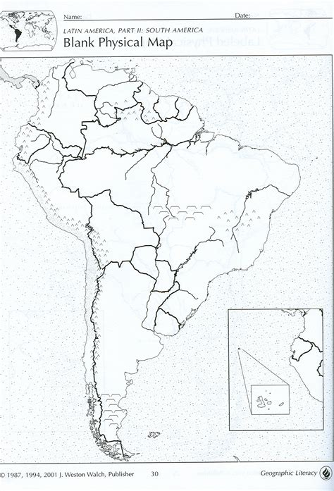 blank physical map of america blank physical map of south america