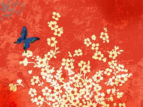 design flower paintings flowers illustration butterfly and flowers 39 wallcoo net