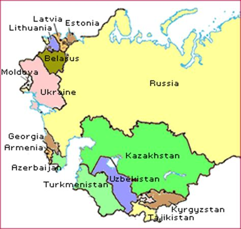 nations of the former ussr map quiz other former soviet union countries f s u global