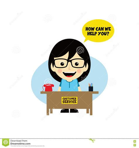 customer service desk customer service desk character vector