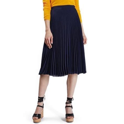 Chiffon Midi Pleated Skirt topshop chiffon pleated midi skirt rank style