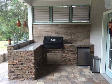 Backyard Bbq Enclosure Outdoor Bbq Enclosures Flex Fence Louver System