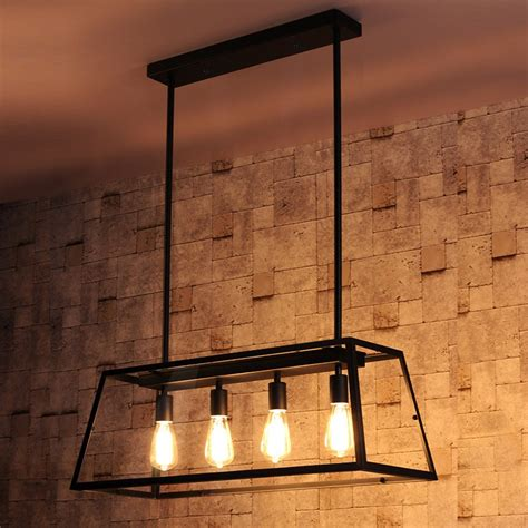 Industrial Kitchen Island Lighting Maure Industrial Loft 4 Light Kitchen Island Pendant Chandelier Pendant Lights Ceiling