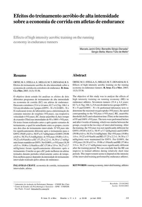 (PDF) Efeitos do treinamento aeróbio de alta intensidade