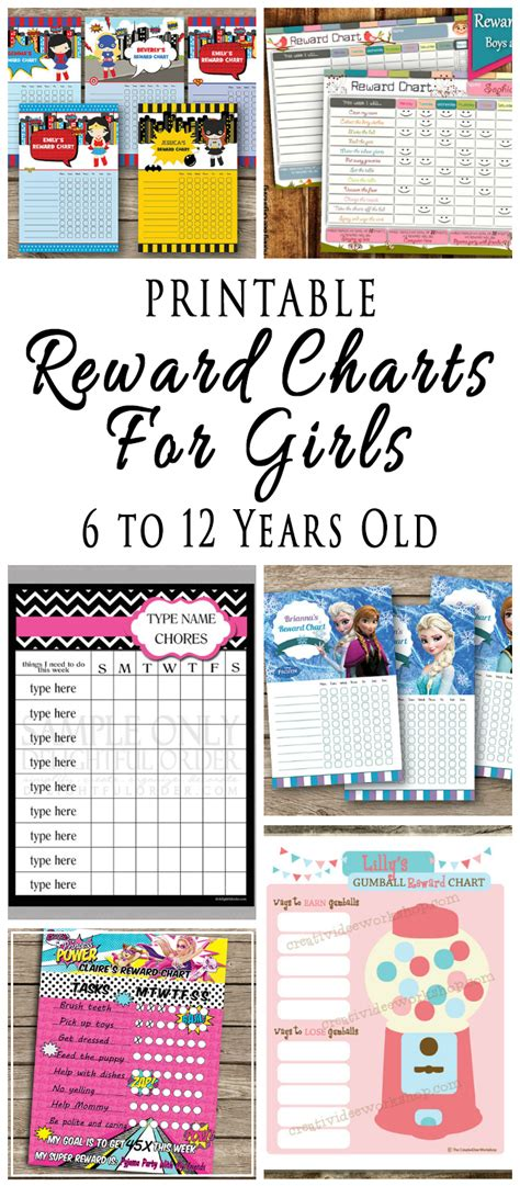 Printable Reward Charts For Kids 6 To 12 Years Old Printable | printable reward charts for kids 6 to 12 years old omg