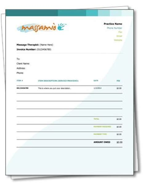 therapy receipt template independent therapist resources on