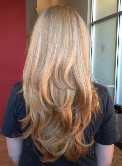 reverse layered haircut subtle reverse ombre long layers by james hair color