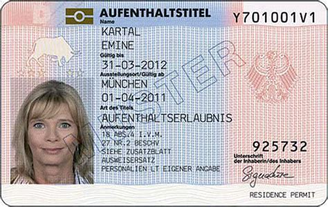 german id card template getting a residence permit for germany the german way more