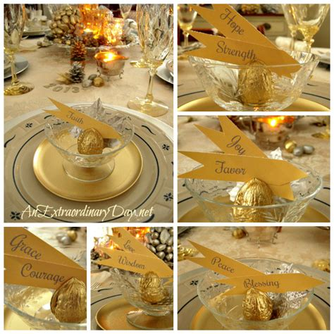 Day 6 Table Settings As by Gold Silver Table Setting A New Year S Celebration