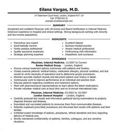Doctor Resume Templates by Doctor Resume Template 16 Free Word Excel Pdf Format Free Premium Templates
