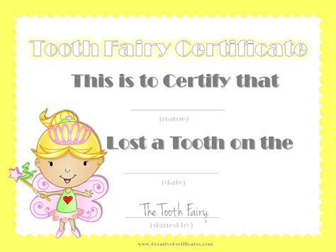 tooth certificate template free free tooth certificate