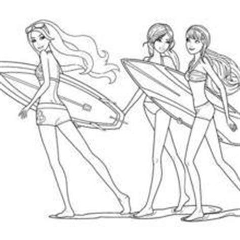 Coloriages Les Meilleures Amies De Merliah Fr Hellokids Com Voir Coloriage Coloriage Barbie Sirene Surf L