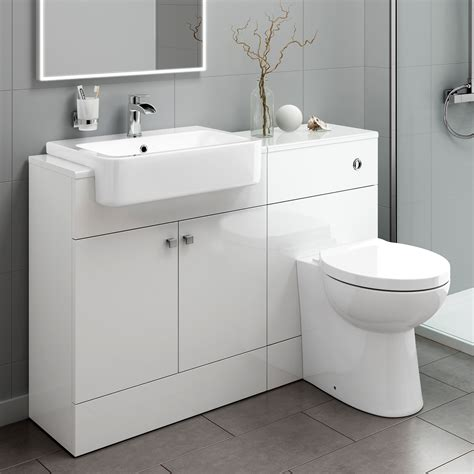 Bathroom Vanity Units With Basin And Toilet Bathroom Toilet And Furniture Storage Vanity Unit Sink Basin White 1160mm Mv2004 Ebay