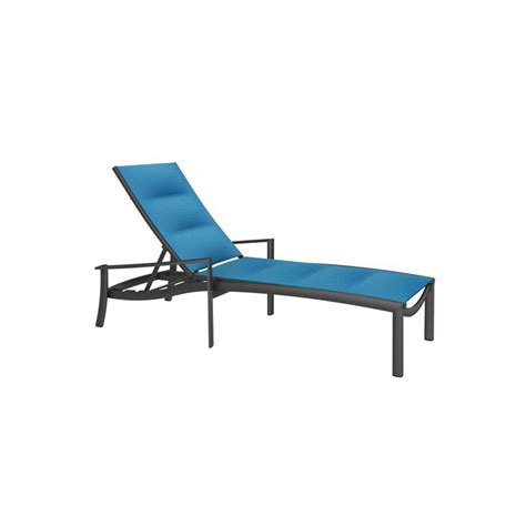 tropitone chaise lounge tropitone 891532ps kor padded sling chaise lounge discount