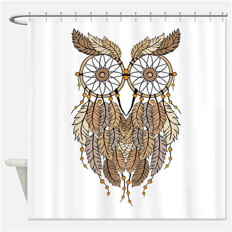 owl shower curtain tribal owl shower curtains tribal owl fabric shower curtain liner