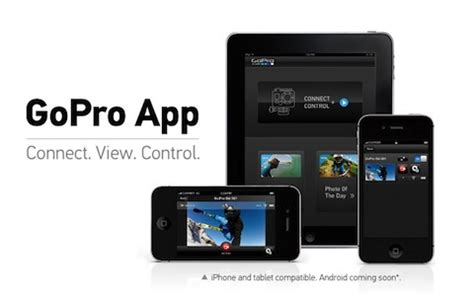 gopro app for android gopro launches free ios android app for hd hero2 cameras