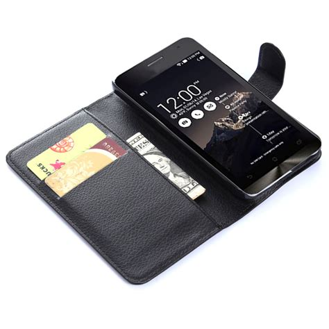 Wallet Zenfone 5 by Leather Wallet For Asus Zenfone 5 Black