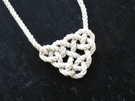 Tying Celtic Knots - diy knotted necklace how to tie a celtic triangle made