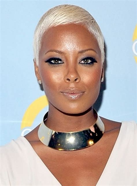 platinum blonde hairstyles on african american women over 50 black women hairstyles for short hair 11 unique short