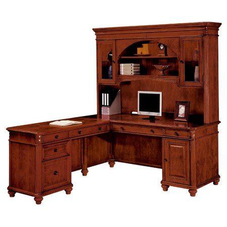 l shaped computer desk walmart dmi antigua l shaped computer desk in cherry walmart com