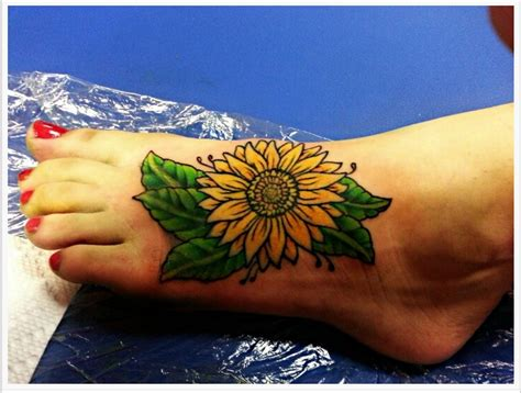 sunflower tattoo designs on foot 27 amazing sunflower tattoos ideas