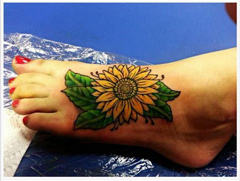 sunflower foot tattoo 27 amazing sunflower tattoos ideas