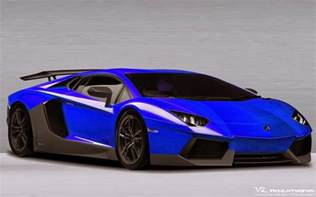 Blue Lamborghini Lamborghini Aventador Sv Blue Car Wallpaper High Quality