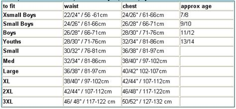 cricket equipment size guide   information
