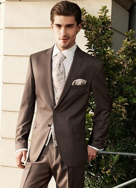 lovely brown wedding suits for groom custom mens wedding