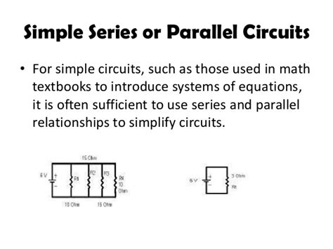 parallel circuits math electrical circuits in concept of linear algebra