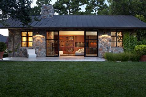 American Bungalow House Plans Fieldstone Guest Cottage Sonoma Ca Exterior Stone
