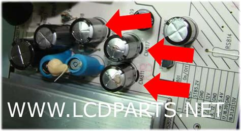 what causes tv capacitors to capacitor lcdparts net