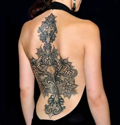 lace back tattoo 50 remarkable lace designs