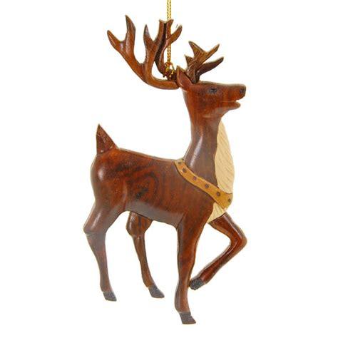 reindeer ornament hawaiian ornament wood reindeer