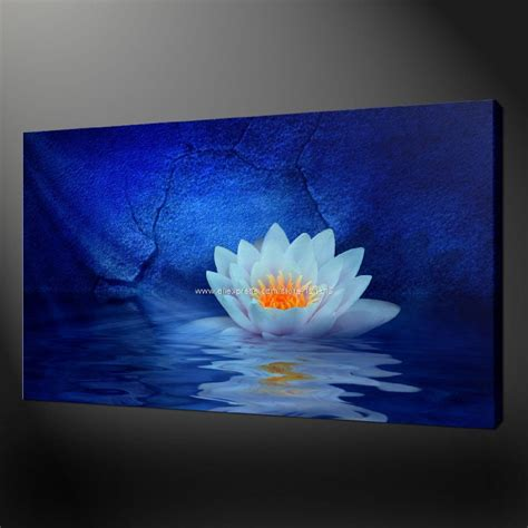 acrylic paint for large canvas water lilies premium quality canvas picture wall