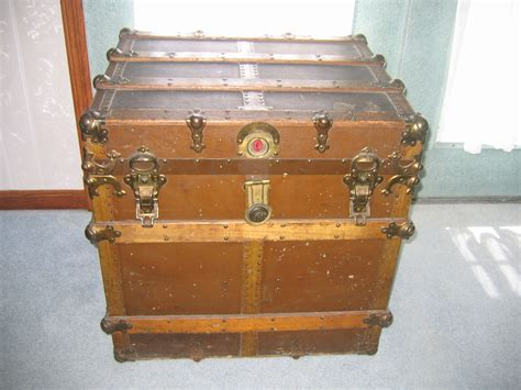 wooden trunk antique wooden chest travel storage trunk item 305 for