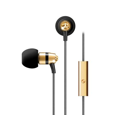 Meelectronics In Ear Headphones With Microphone Made Golden meelectronics in ear headphones with microphone made with swarovski m11j golden