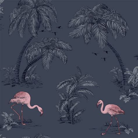 flamingo wallpaper ebay lagoon coral grey flamingo wallpaper by arthouse vintage