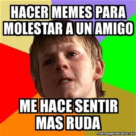 Crear Un Meme Online - meme chico malo hacer memes para molestar a un amigo me