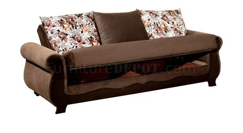 Meyra Set meyra sofa bed in brown microfiber by w optional items